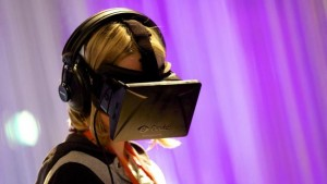 Woman with an occulus headset