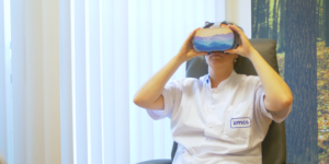 nurse with VR goggles